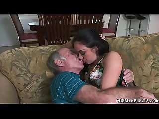 Girl hand smother horny old man masturbate Frannkie's a quick learner!